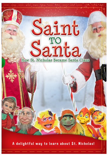 Come behind the scenes of a unique television show created by kids and puppets, and discover the real Saint Nicholas as he tells his story! With kids cueing the action and a host of zany puppets running the studio, Saint to Santa will prompt giggles and cheers for the kind saint whose joy reminds us that Christmas is the birthday of Christ our Savior.
